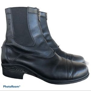 ARIAT black leather paddock boots 12EE